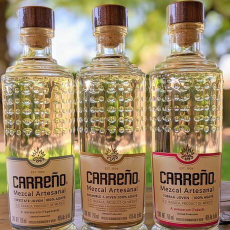 Carreño Set // 3 Bottles + Hand-Made Copita // 750 ml Each