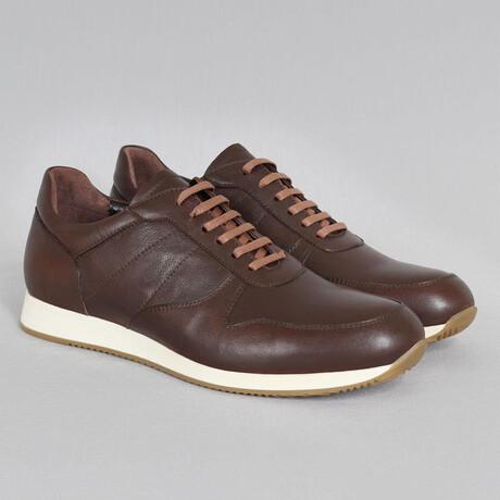 White Base Sport Sneaker // Brown (Euro Size 39)