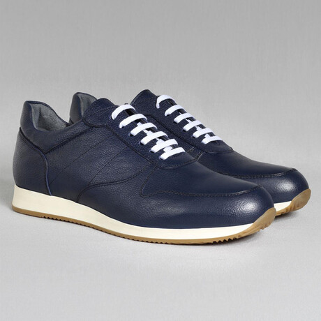 White Base Sport Sneaker // Navy Blue (Euro Size 39)