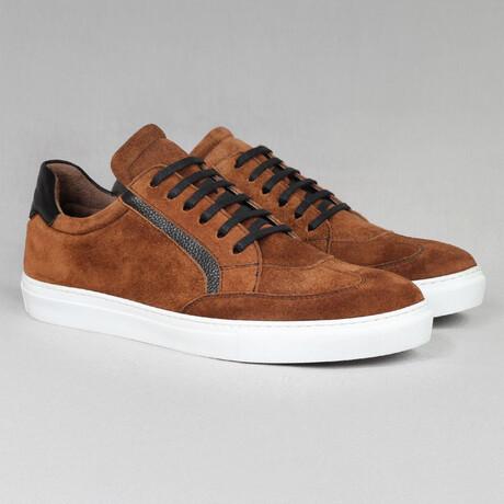 Big Number Sport Sneaker // Tan Suede (Euro Size 38)