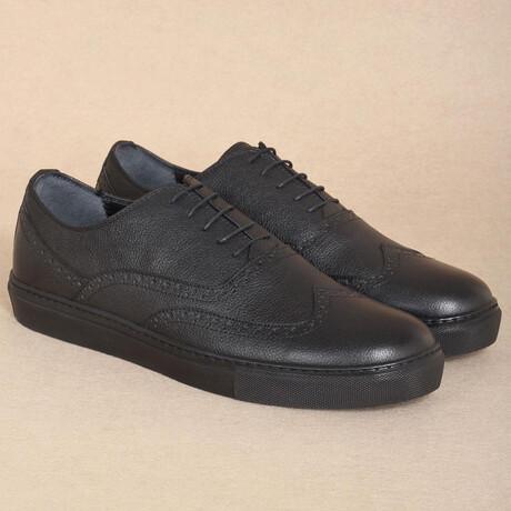 Sport Oxford Sneaker // Black Patent Leather (Euro Size 38)
