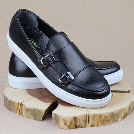 Monk Strap Sport Sneaker // Black (Euro Size 38)