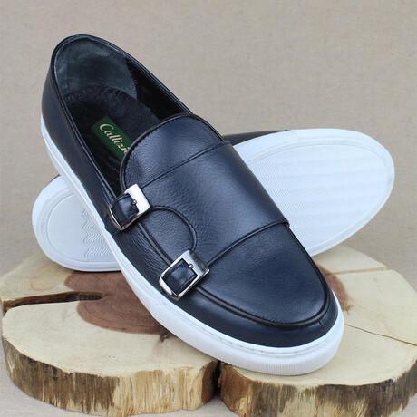 Monk Strap Sport Sneaker // Navy Blue (Euro Size 38)
