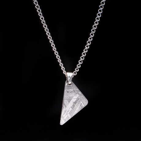 "Genuine Natural Seymchan Meteorite Pendant + 18"" Sterling Silver Chain // 2.6 g"