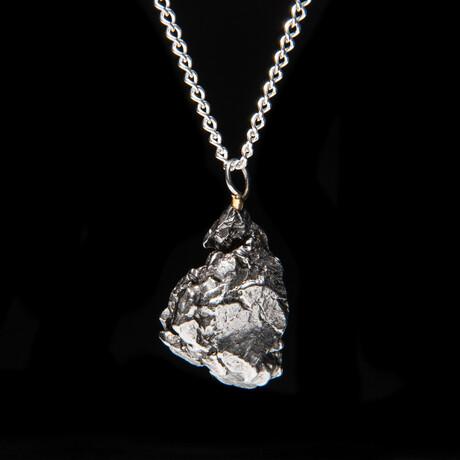 """Genuine Natural Campo del Cielo Meteorite Pendant + 18"""" Sterling Silver Chain // 10 g"""