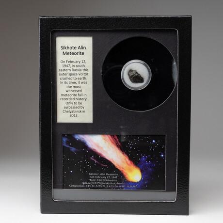 Genuine Sikhote-Alin Meteorite + Display Box
