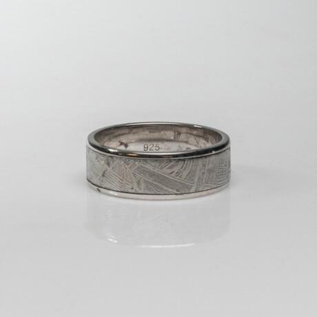 Genuine Natural Seymchan Meteorite Ring // Size 12