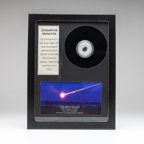 Genuine Chelyabinsk Meteorite + Display Box