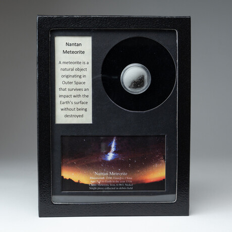 Genuine Nantan Meteorite + Display Box