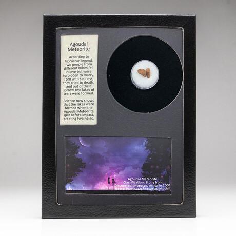 Genuine Agoudal Meteorite + Display Box