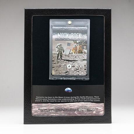Genuine Moon Rock Lunar Meteorite + Display Box