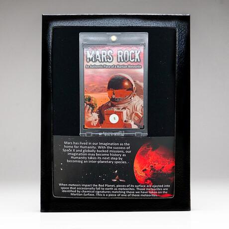 Genuine Mars Rock Meteorite + Display Box