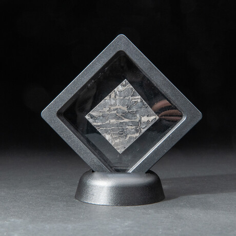 Genuine Natural Seymchan Meteorite Square Slice + Acrylic Display Stand // V2 // 15 g