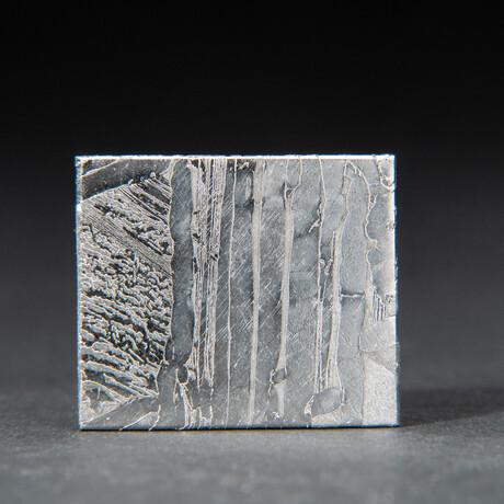 Genuine Natural Seymchan Meteorite Square Slice + Acrylic Display Stand // 12 g