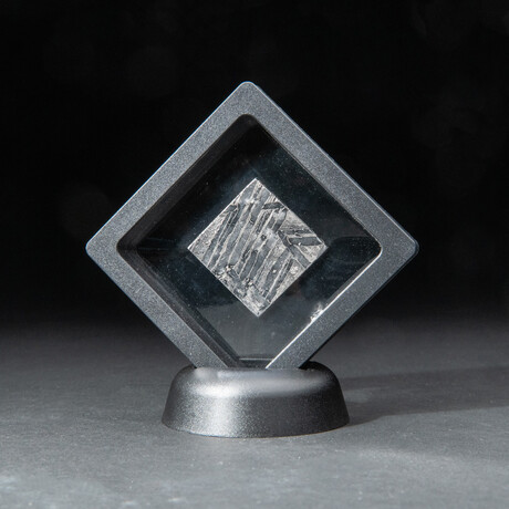 Genuine Natural Seymchan Meteorite Square Slice + Acrylic Display Stand // 17 g
