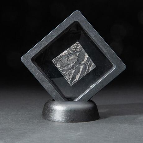 Genuine Natural Seymchan Meteorite Square Slice + Acrylic Display Stand // 16 g