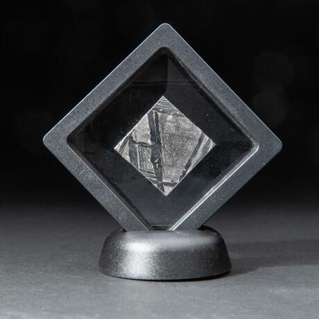Genuine Natural Seymchan Meteorite Square Slice + Acrylic Display Stand // V1 // 15 g