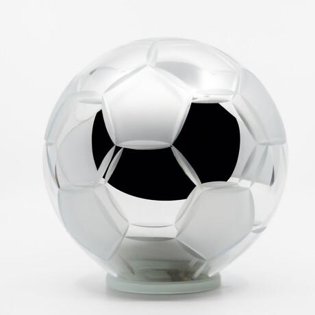 Crystal Soccer Ball // Silver Sandblasted