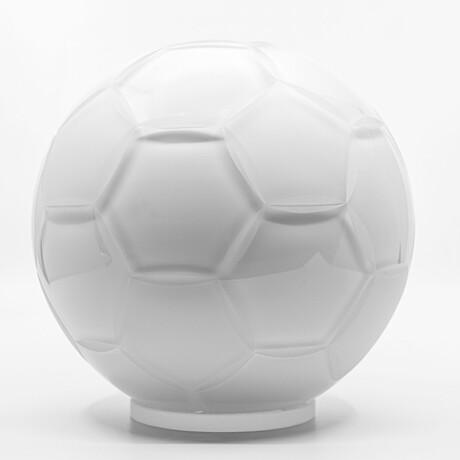 Crystal Soccer Ball // White Sandblasted