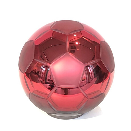 Crystal Soccer Ball // Red Sandblasted