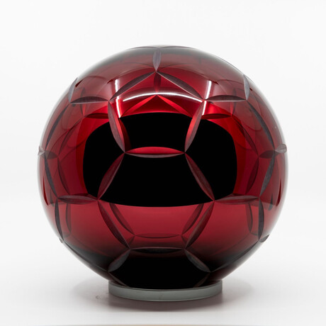 Crystal Soccer Ball // Red