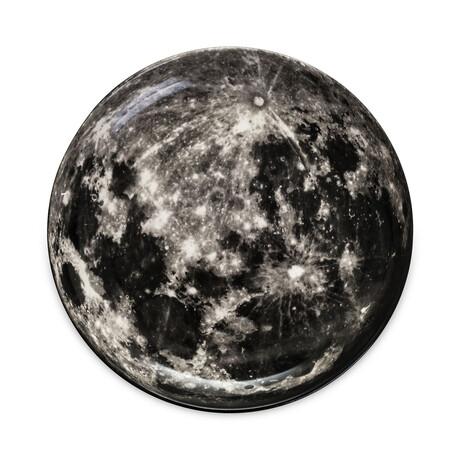 Cosmic Diner Porcelain Plate // Moon