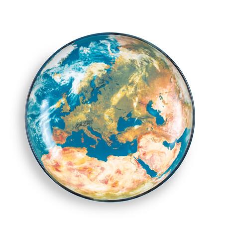 Cosmic Diner Porcelain Plate // Earth Europe
