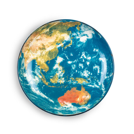 Cosmic Diner Porcelain Plate // Earth Asia