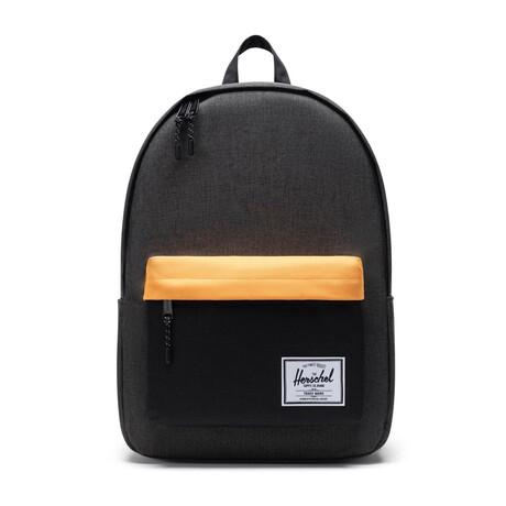 Classic XL Backpack // Black Crosshatch + Blazing Orange
