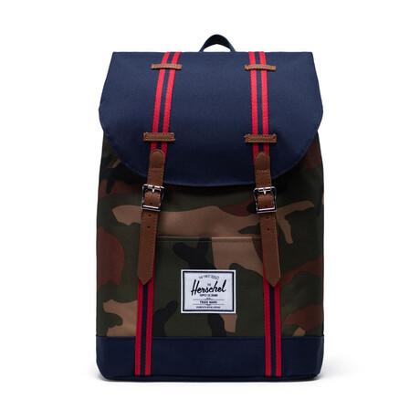Retreat Backpack // Woodland Camo + Peacoat + Tan