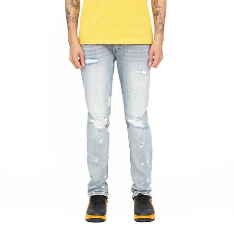 Rocker Slim Premium Stretch Jeans // Bleach (30WX34L)