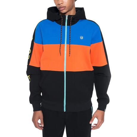 Color Block Zip-Up Track Jacket // Multicolor (XS)