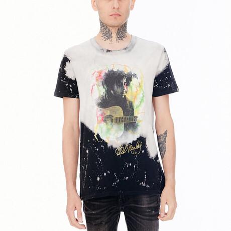 Bob Marley Tie Dye Short-Sleeve Shirt // Multicolor (XS)