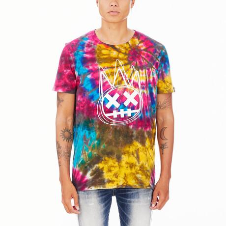 Tie Dye Short-Sleeve Shirt // Rainbow (XS)