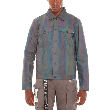 Reversible Denim Jacket // Black + Metallic (XS)