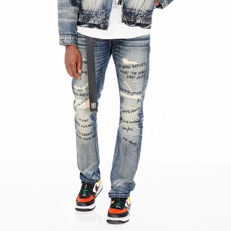 Marley Rocker Slim Belted Jeans // Shed (30WX34L)
