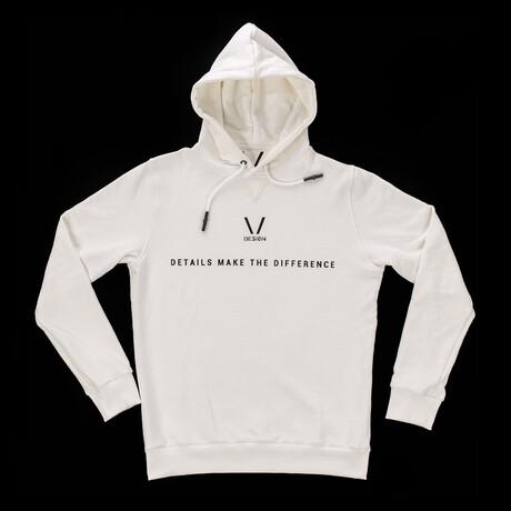 Taurus Hooded Sweatshirt // White + Black (S)
