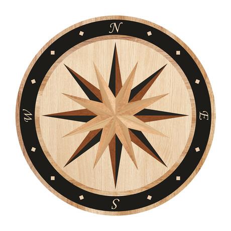 Marquetry // Compass Rose Floor Mat (3.25' x 3.25')