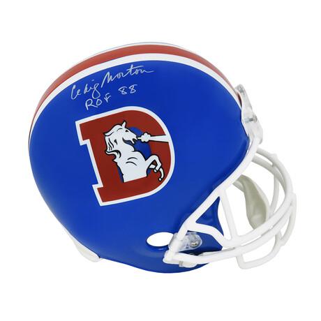 "Craig Morton // Denver Broncos // Signed Throwback Riddell Full Size Replica Helmet // w/ ""ROF'88"" Inscription"