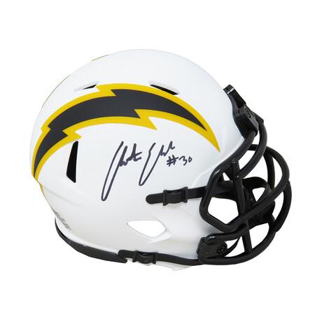 Austin Ekeler // Los Angeles Chargers // Signed Lunar Eclipse Riddell Speed Mini Helmet