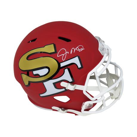 Joe Montana // San Francisco 49ers // Signed AMP Riddell Speed Full Size Replica Helmet