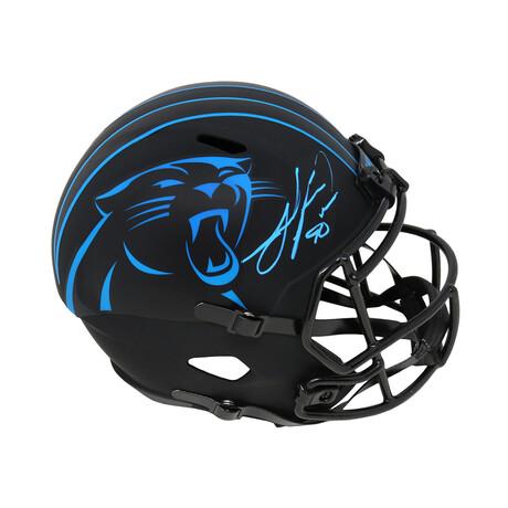 Julius Peppers // Signed Riddell Speed Replica Helmet // Carolina Panthers // Eclipse Black Matte