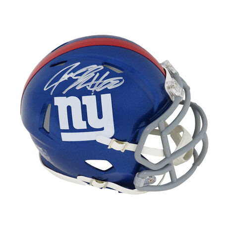 Jeremy Shockey // New York Giants // Signed Riddell Speed Mini Helmet