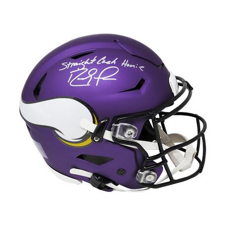 "Randy Moss // Minnesota Vikings // Signed SpeedFlex Riddell Authentic Helmet // w/ ""Straight Cash Homie"" Inscription"