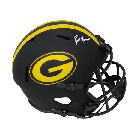 Brett Favre // Green Bay Packers // Signed Eclipse Riddell Full Size Speed Replica Helmet
