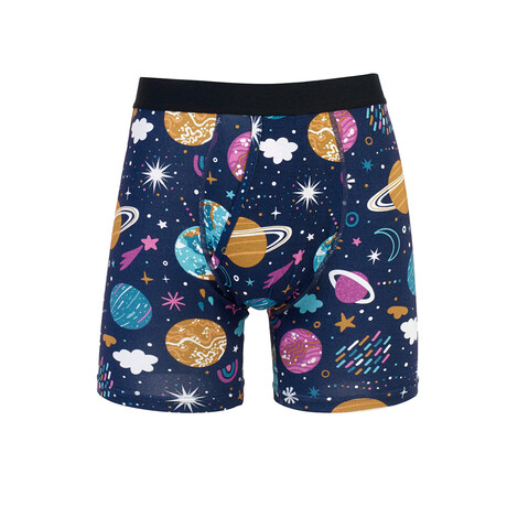 Planets Moisture Wicking Boxer Brief // Blue (S)