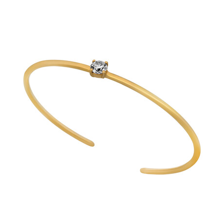 Estate 18k Yellow Gold Diamond Open Bracelet // 16cm // Pre-Owned