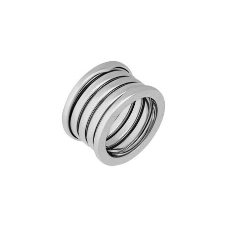 Bulgari // 18k White Gold B.Zero1 Five Band Ring // Ring Size: 6.75 // Pre-Owned