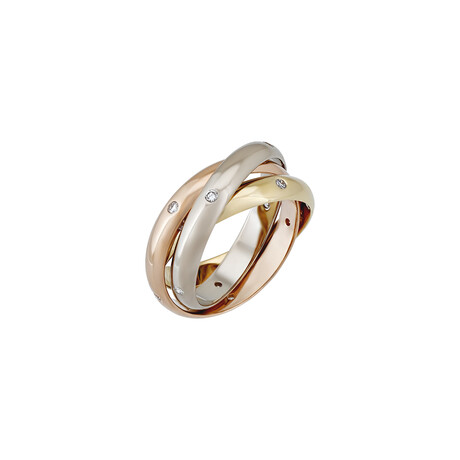 Cartier 18k Tri-Color Gold Trinity Constellation Diamond Ring // Ring Size: 5.75 // Pre-Owned