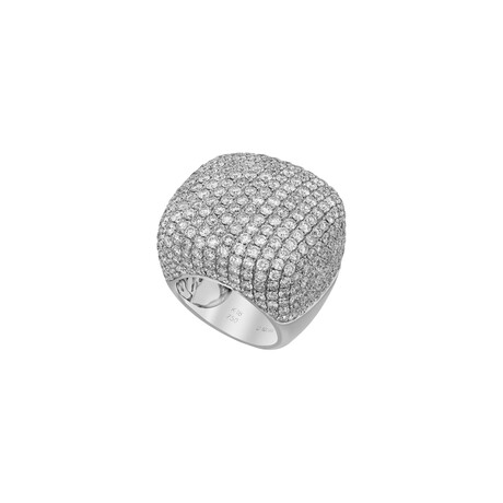 18k White Gold Diamond Ring // Ring Size: 6.5 // Pre-Owned